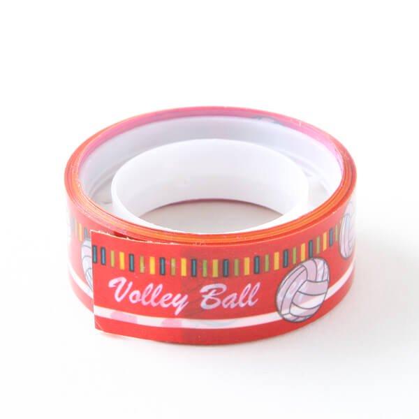 セットでお得! オリジナルマスキングビニールテープ(ミニ) バレーボール柄 単価126円〜【画像2】