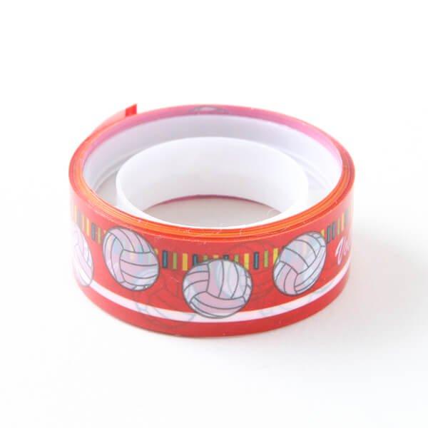 セットでお得! オリジナルマスキングビニールテープ(ミニ) バレーボール柄 単価126円〜【画像3】
