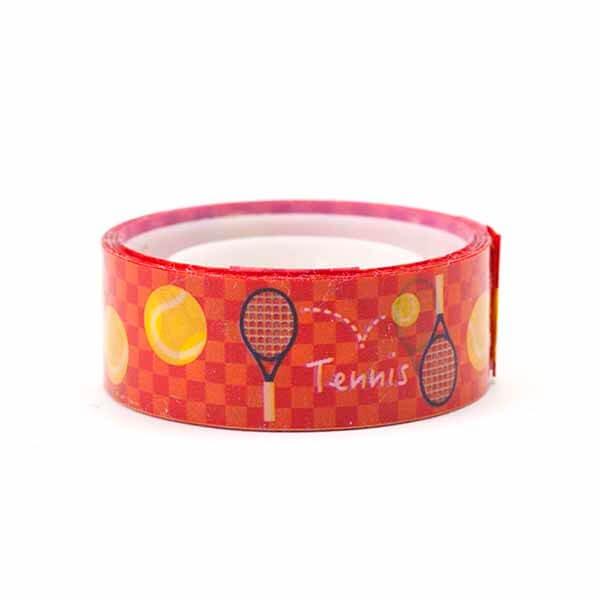 セットでお得! オリジナルマスキングビニールテープ(ミニ) テニスボール柄 単価126円〜【画像4】