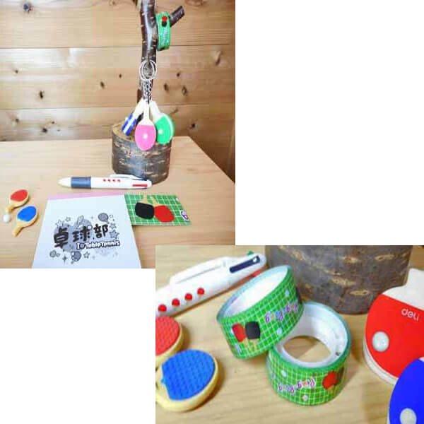 セットがお得! オリジナルマスキングビニールテープ(ミニ) 卓球柄 単価128円〜【画像2】