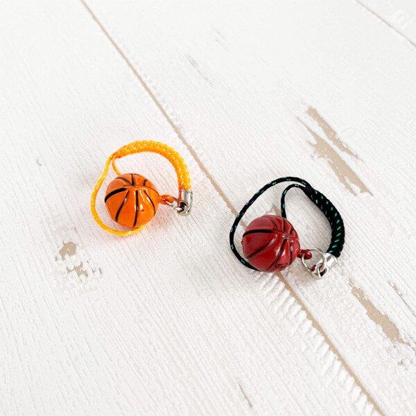 鈴の音に癒される ミニ鈴の根付けストラップ バスケットボール型 1個カラーを選択【画像2】