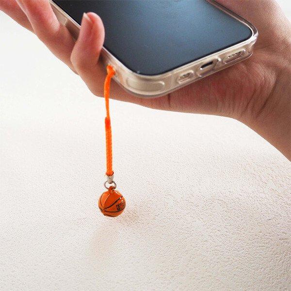 鈴の音に癒される ミニ鈴の根付けストラップ バスケットボール型 1個カラーを選択【画像3】