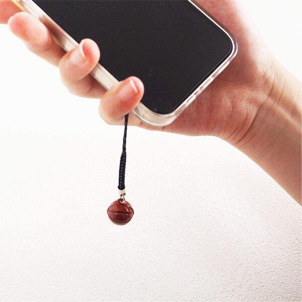 鈴の音に癒される ミニ鈴の根付けストラップ バスケットボール型 1個カラーを選択【画像4】