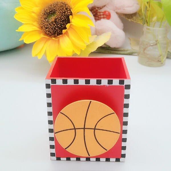 可愛いラッピング用リボン バスケットボール(背景白) 約450センチ(5ヤード)