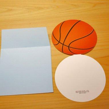 バスケットボール型のメッセージカード 【画像3】
