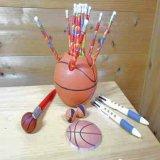 バスケットボール柄の鉛筆(ボールがたくさん)