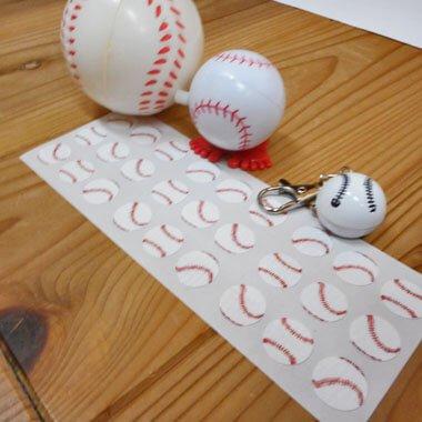 野球ボールのクリアシール (野球のボール27個)【画像5】