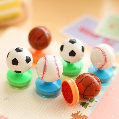 可愛い野球ボール型のダブルスタンプ 1個