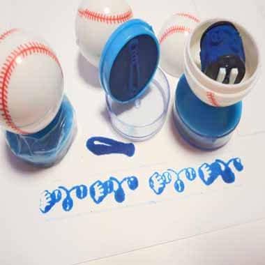 可愛い野球ボール型のダブルスタンプ 1個【画像3】