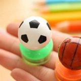 サッカー人気アイテム 可愛いサッカーボール型のダブルスタンプ 1個