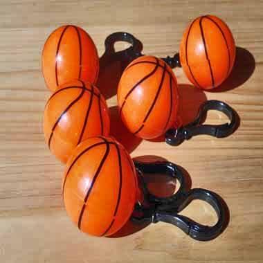 フック型の可愛いプラバスケットボールキーホルダー 単価84円〜【画像2】