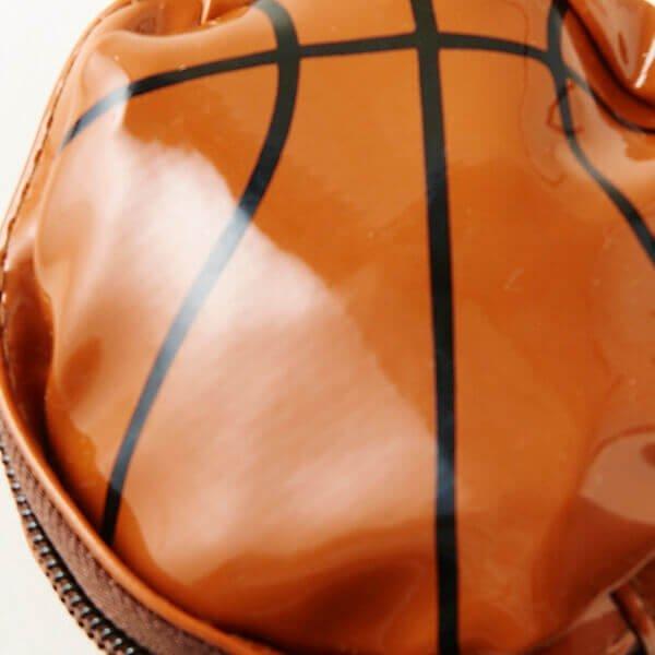 セットがお得! バスケットボール型のエナメル小物入れ(巾着入り) 単価480円〜【画像2】