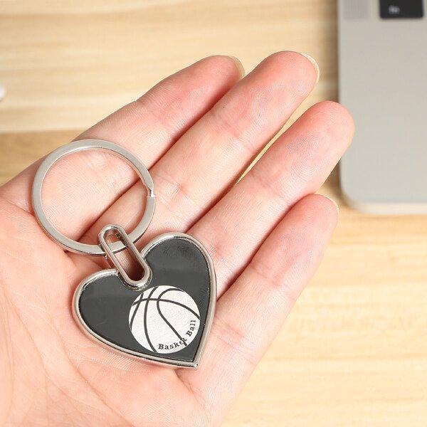 存在感のあるオリジナルキーホルダー バスケットボール柄 1個【画像3】