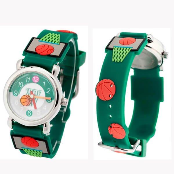 時計可愛いバスケットボール柄子供用腕時計1個