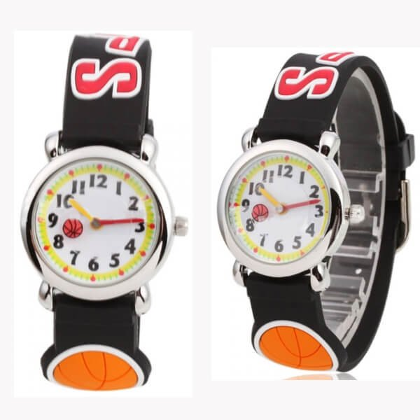 可愛いバスケットボール柄 子供用腕時計 1個【画像2】