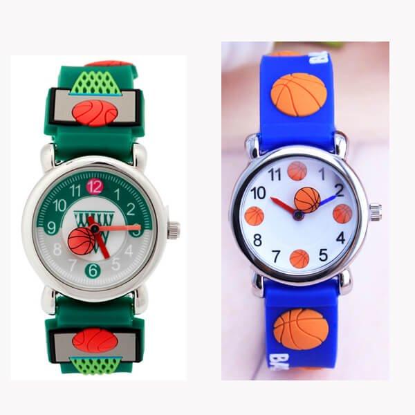 可愛いバスケットボール柄 子供用腕時計 1個【画像3】