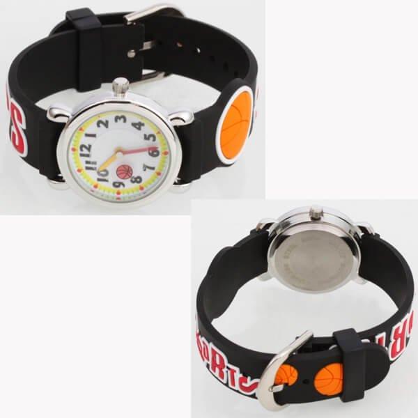可愛いバスケットボール柄 子供用腕時計 1個【画像4】