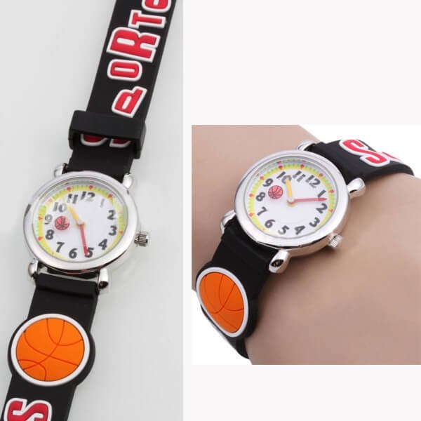 時計可愛いバスケットボール柄子供用腕時計1個【画像5】