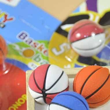 バスケットボール消しゴムセット 可愛いパッケージにバスケットボール3個入り 単価160円〜