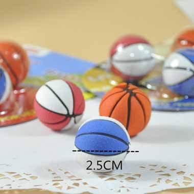 バスケットボール消しゴムセット 可愛いパッケージにバスケットボール3個入り 単価160円〜【画像4】