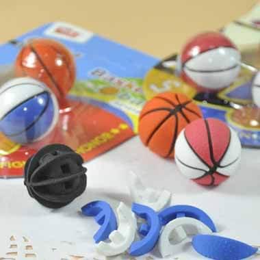 バスケットボール消しゴムセット 可愛いパッケージにバスケットボール3個入り 単価160円〜【画像6】