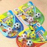 サッカーボールの消しゴムセット 可愛いパッケージにサッカーボール3個入り