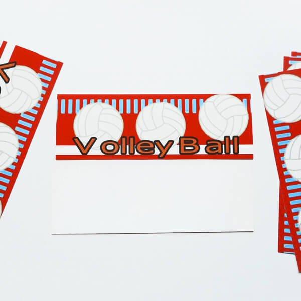 セットがお得 オリジナルしおり バレーボール柄 単価17円〜【画像2】