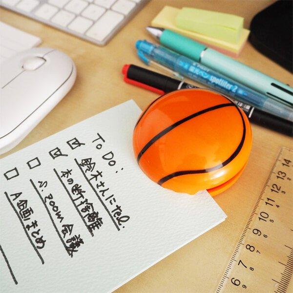 セットがお得 マグネット付きビッグクリップ バスケットボール型 単価186円〜