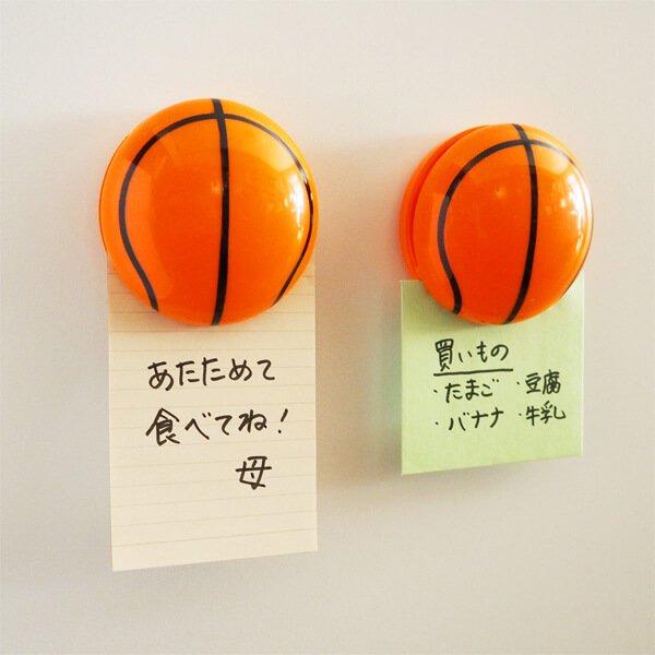 セットがお得 マグネット付きビッグクリップ バスケットボール型 単価186円〜【画像2】