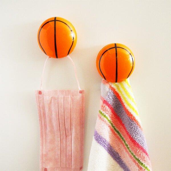 セットがお得 マグネット付きビッグクリップ バスケットボール型 単価186円〜【画像3】