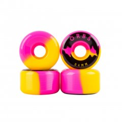 Welcome Orbs (ウェルカムオーブス)| Specters Wheels Pink×Yellow×Black 54mm 99A