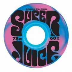 Oj Wheels (オージェイウィール)  Super Juice Blue Pink Swirl 60mm 78a