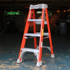 4 ft Orange/Standard Louisville Fiberglass Step Ladder/アメリカ脚立