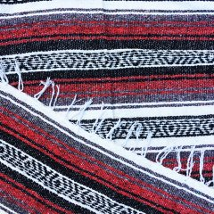 <img class='new_mark_img1' src='//img.shop-pro.jp/img/new/icons57.gif' style='border:none;display:inline;margin:0px;padding:0px;width:auto;' />MOLINA INDIAN BLANKET | メキシコ製 ラグ ブランケット - レッド