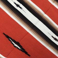 Diamond Center Blankets | メキシコ製 大判 ラグ ブランケット ゴツめ ヘビーオンス 1440×2100 - オレンジ