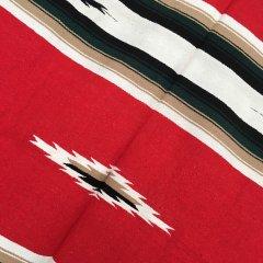 Diamond Center Blankets | メキシコ製 大判 ラグ ブランケット ゴツめ ヘビーオンス 1440×2100 - レッド