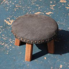 Low Chair | 木製 スエードレザーカバー スタッズ ハンドメイド チェア