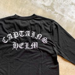 CAPTAINS HELM #BACTERIA-PROOF EMBROIDERY L/S TEE