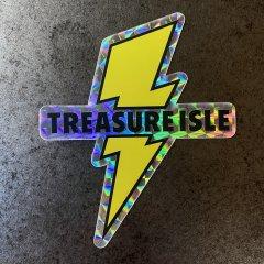 TREASURE ISLE ORIGINAL | ステッカー キラキラ ホログラム仕様 Lightning Bolt Sticker
