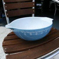 PYREX(パイレックス) | VINTAGE BOWL SNOW FLAKE BLUE ヴィンテージ食器 ボウル スノーフレーク ブルー