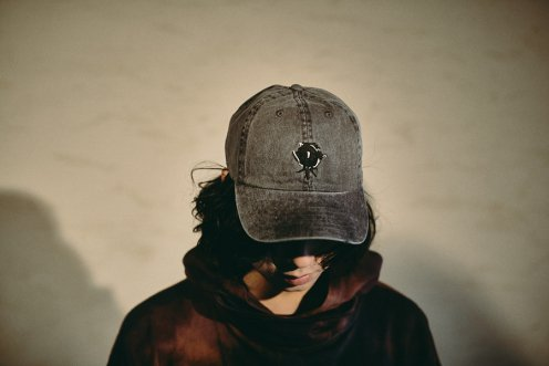 blackened rose pigment dye polo Cap