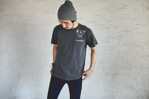 a conductor pocket Tee