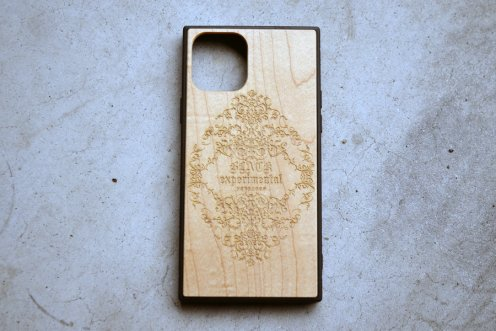 carving ornament logo Wood case
