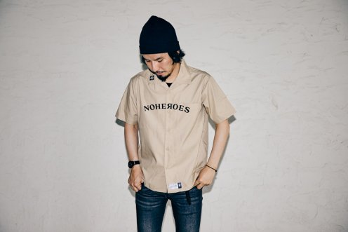 The tiger barked relax Open collar shirt