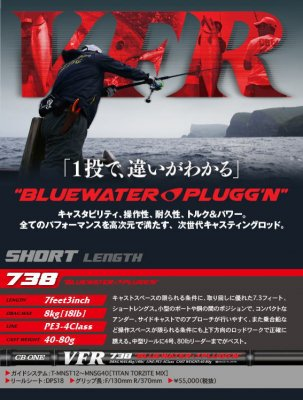 CB ONE  VFR738 BLUEWATER PLUGG'N