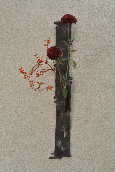 秋の新作! アイアン壁掛2way花器