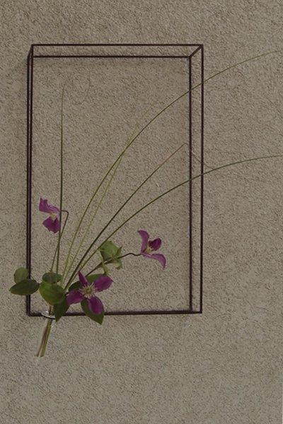 アイアン2way花器  Frame(L)