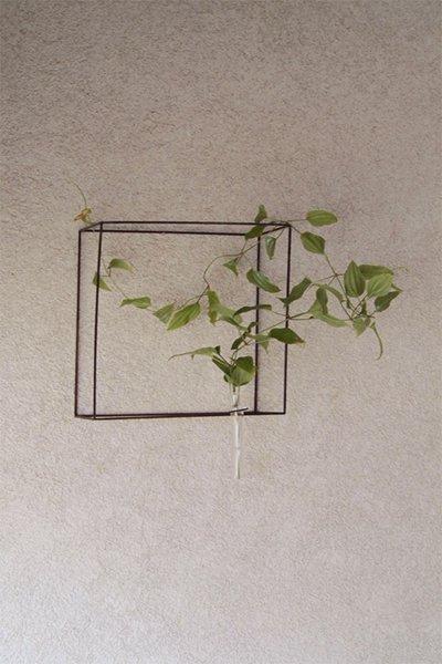 アイアン2way花器  quadrangle