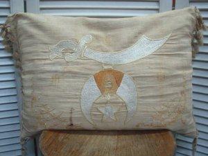 Masonic Shriner Pillow with Tassel - USED VINTAGE CLOTHING GASOLINE WEB  SHOPPING