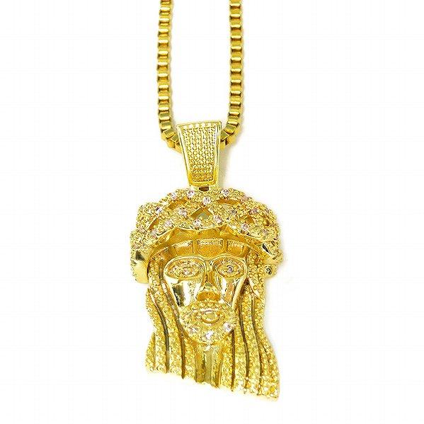 "Golden Gilt / Design by TSS ゴールデンギルト ジーザス ネックレス ゴールド ""MINI JESUS CNC"""